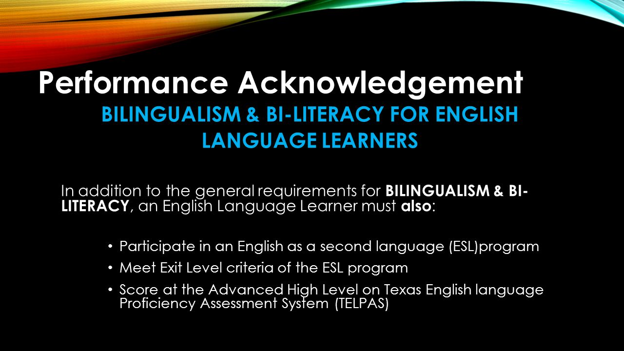 Performance Acknowledgement ADVANCED PLACEMENT OR INTERNATIONAL BACCALAUREATE Earn a score of 3 or above on an Advanced Placement Exam Earn a score of 4 or above on an International Baccalaureate Exam