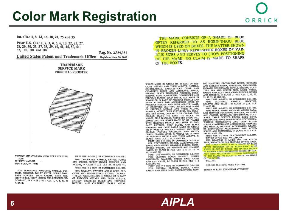 6 6 6 AIPLA Firm Logo Color Mark Registration