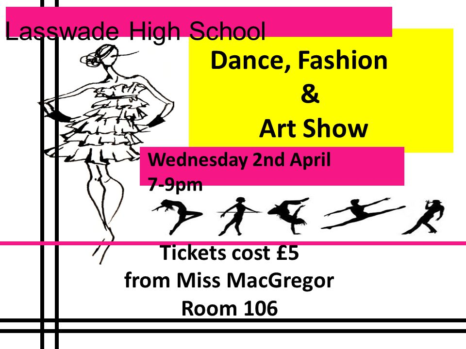 Trash Fashion Show All pupils making outfits for the show need to attend a meeting at morning break on Friday 21 st March in room 106.
