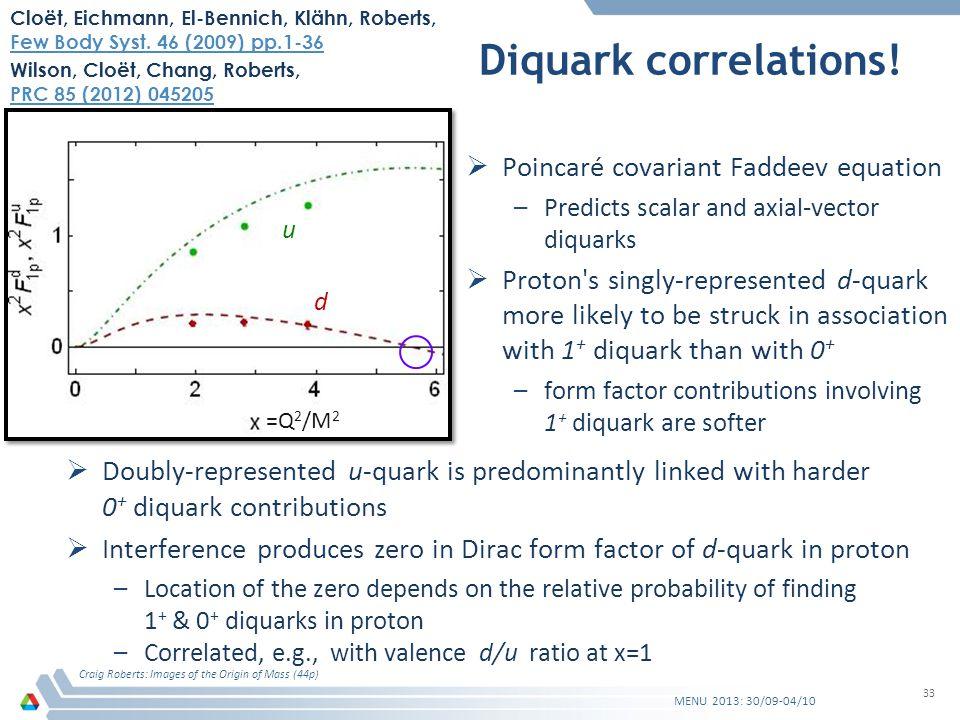 Diquark correlations.