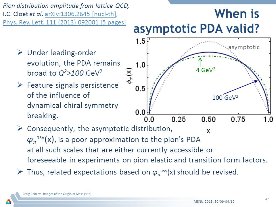 When is asymptotic PDA valid.