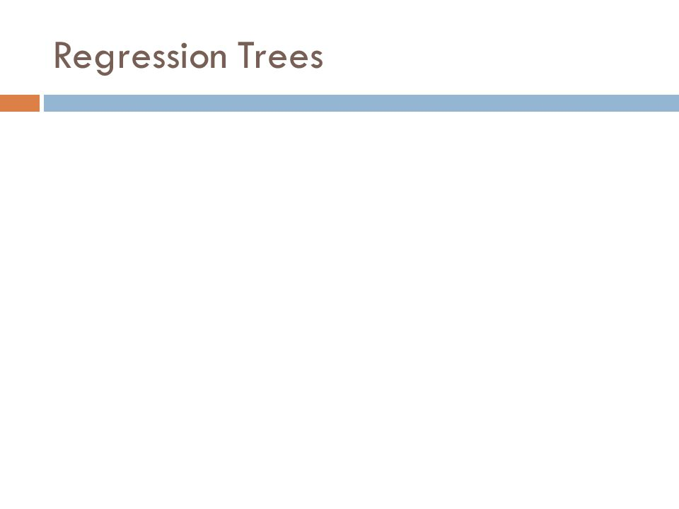 Regression Trees
