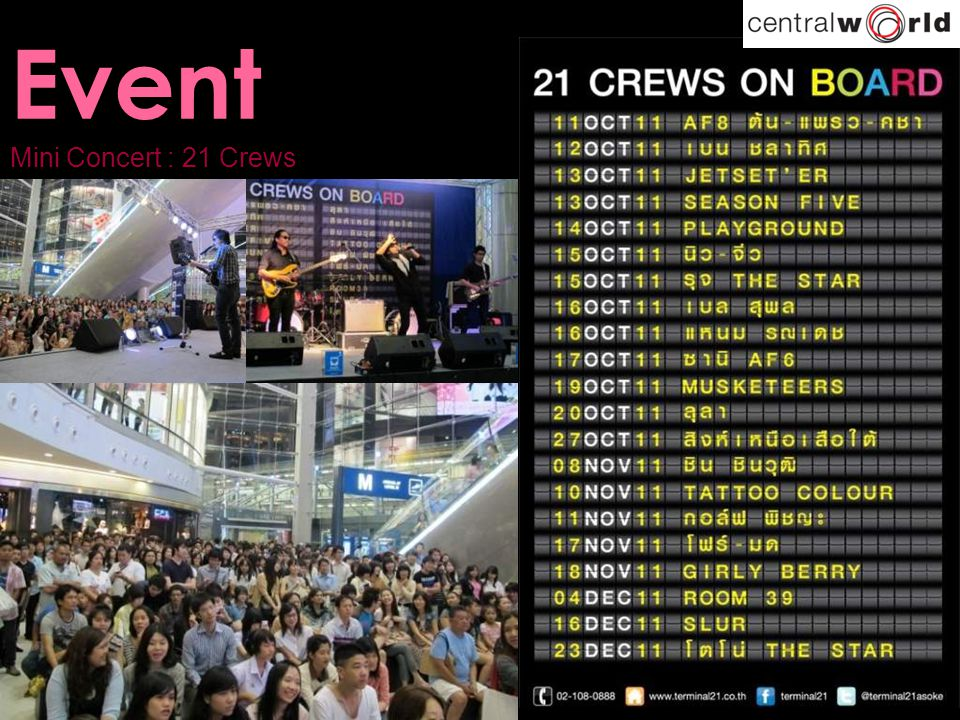 Event Mini Concert : 21 Crews