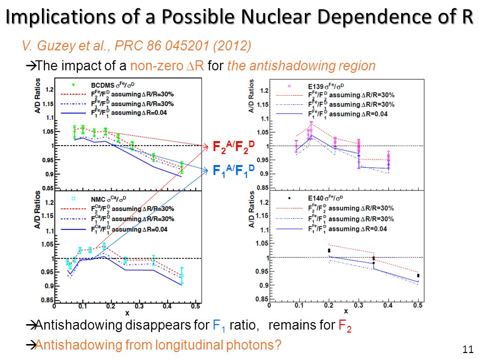 Implications of a Possible Nuclear Dependence of R V.