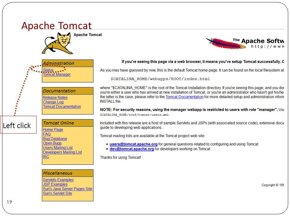 Apache Tomcat 19 Left click