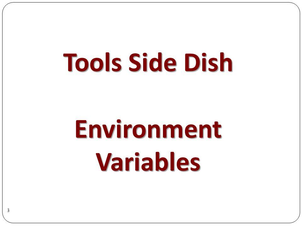 Tools Side Dish EnvironmentVariables 3