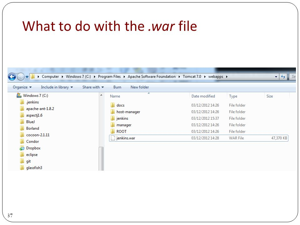 37 What to do with the.war file