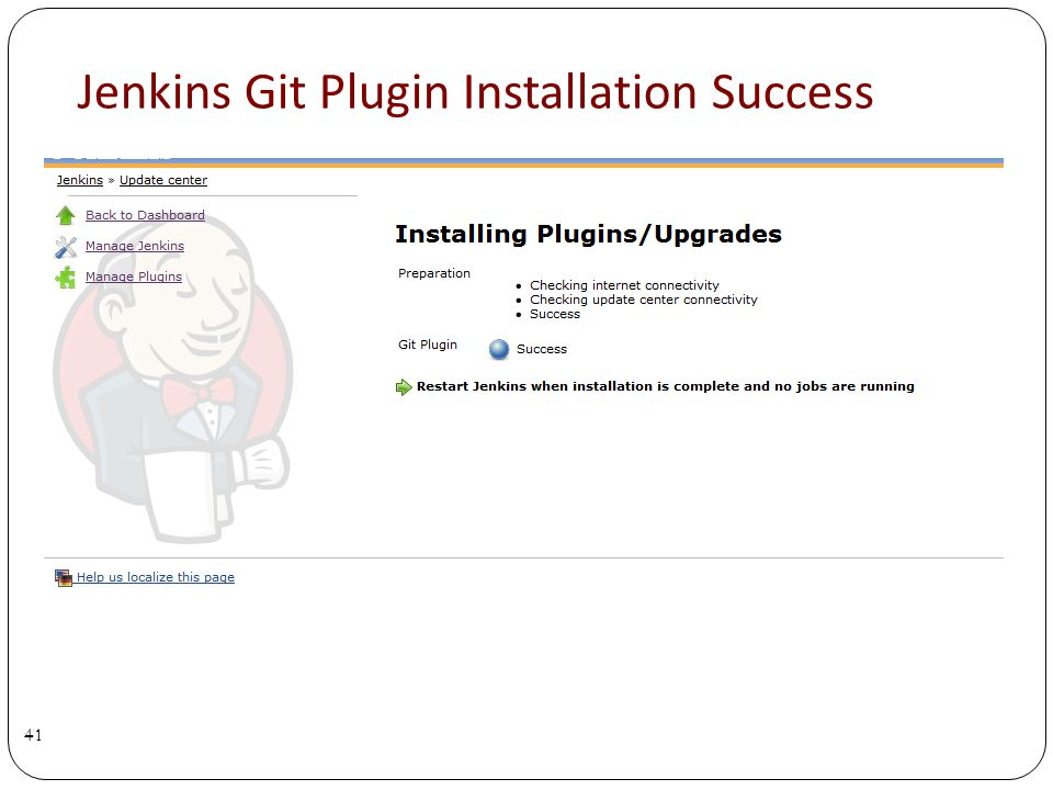 Jenkins Git Plugin Installation Success 41