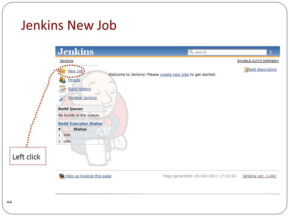 Jenkins New Job 44 Left click
