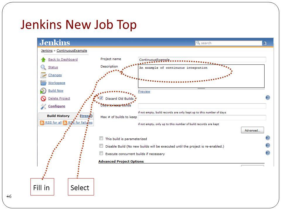 Jenkins New Job Top 46 Fill inSelect