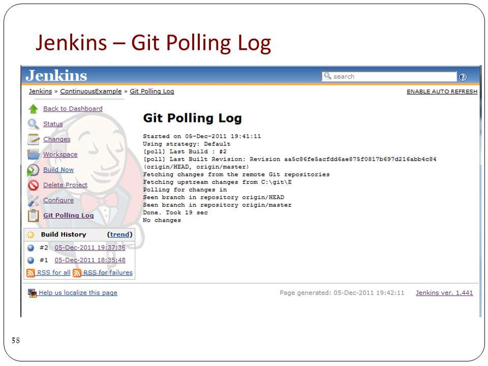 Jenkins – Git Polling Log 58