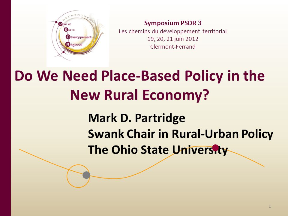 Do We Need Place-Based Policy in the New Rural Economy.
