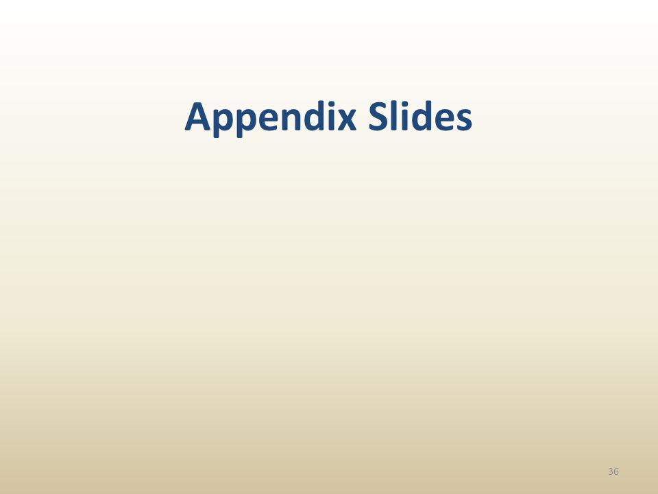 36 Appendix Slides