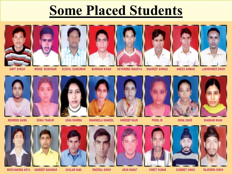 Some Placed Students
