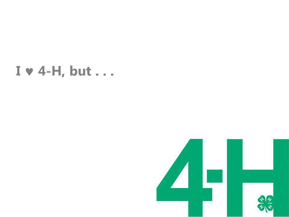 I 4-H, but...