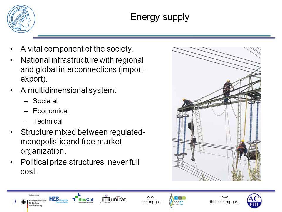www. fhi-berlin.mpg.de www. cec.mpg.de Systemic views on energy supply 4