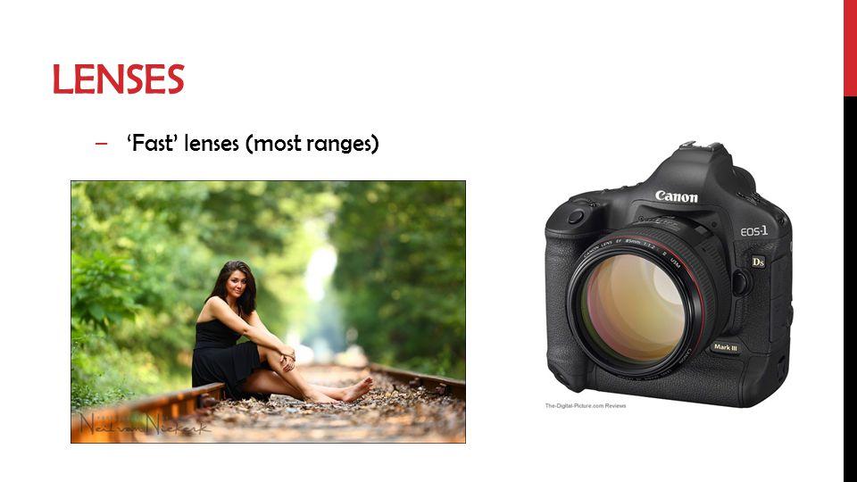 LENSES –Fast lenses (most ranges)