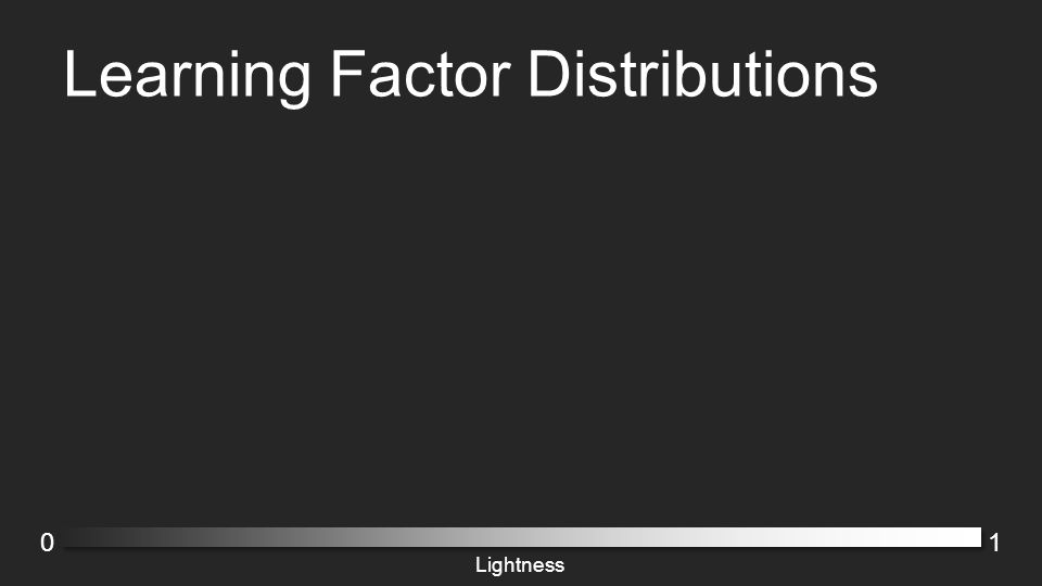 Learning Factor Distributions 01 Lightness