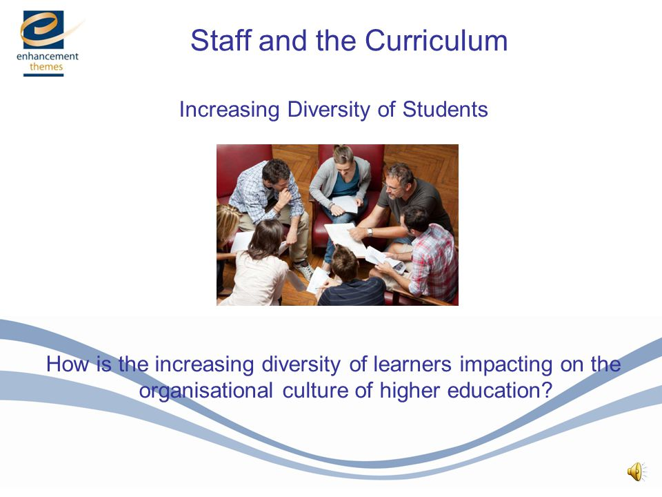 Increasing Diversity of Students How is the increasing diversity of learners impacting on the organisational culture of higher education.