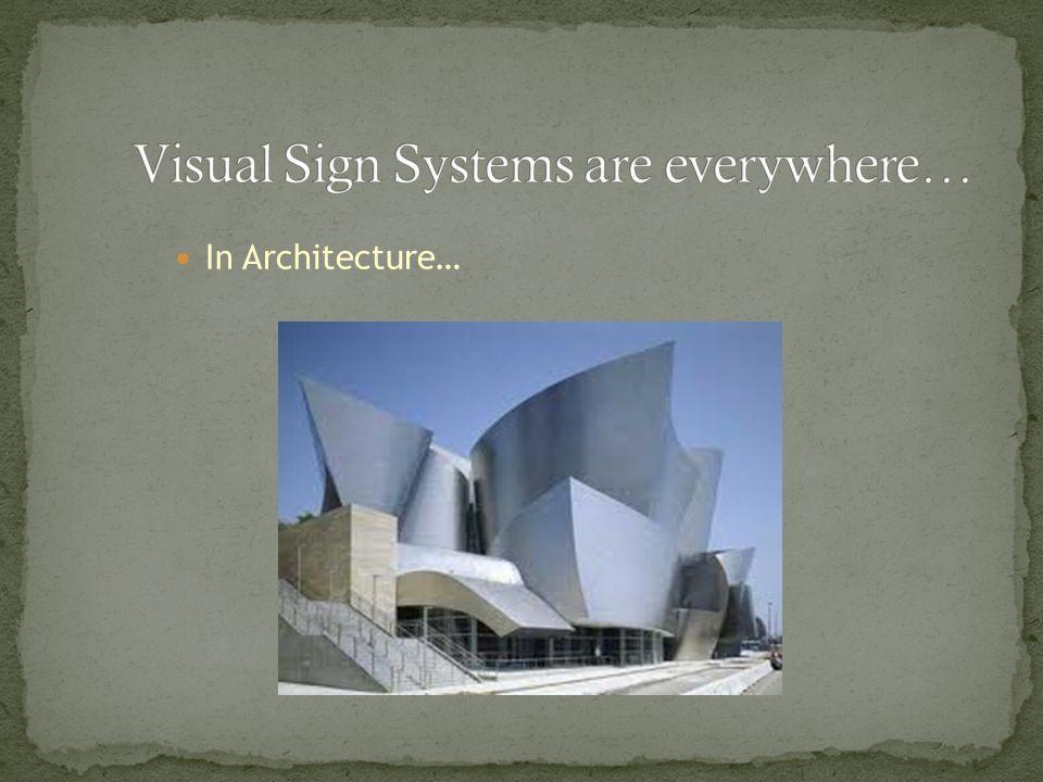 In Architecture…