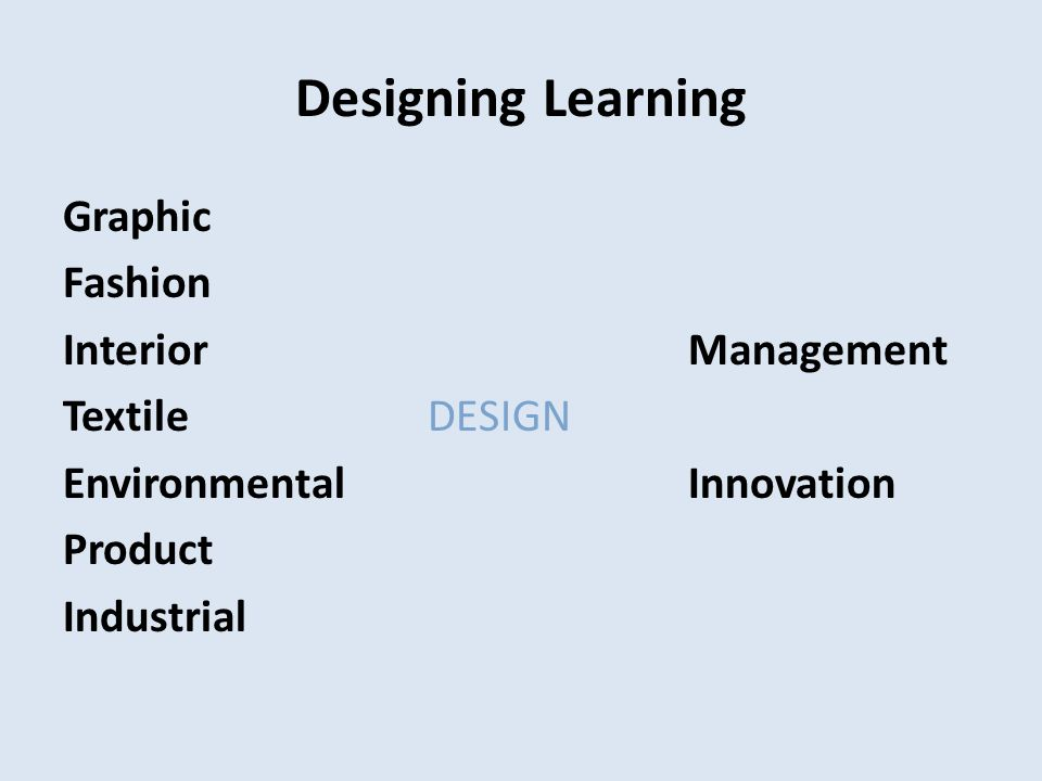 Designing Learning Graphic Fashion InteriorManagement TextileDESIGN EnvironmentalInnovation Product Industrial