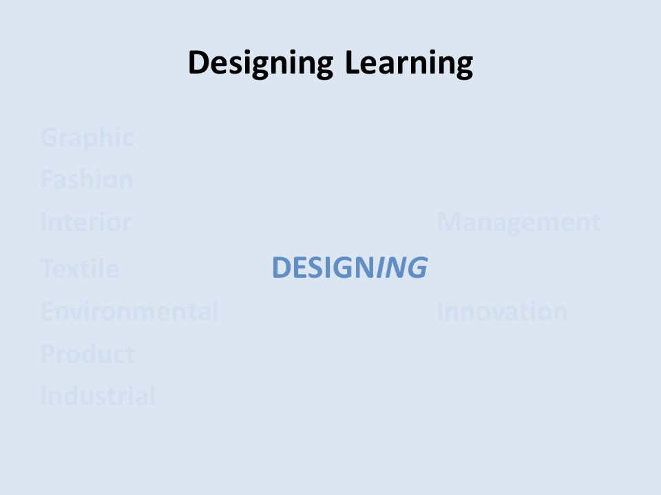 Designing Learning Graphic Fashion InteriorManagement Textile DESIGNING EnvironmentalInnovation Product Industrial