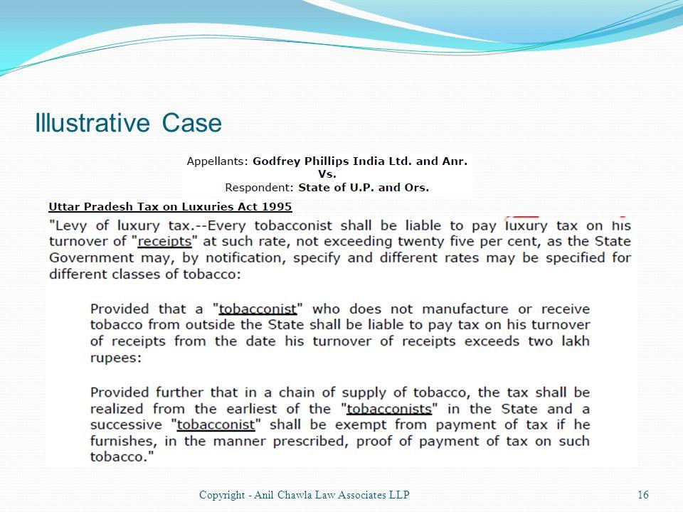 Illustrative Case 16Copyright - Anil Chawla Law Associates LLP