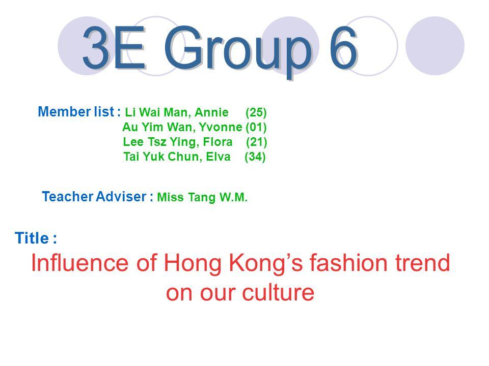 Member list : Li Wai Man, Annie (25) Au Yim Wan, Yvonne (01) Lee Tsz Ying, Flora (21) Tai Yuk Chun, Elva (34) Teacher Adviser : Miss Tang W.M. Title :