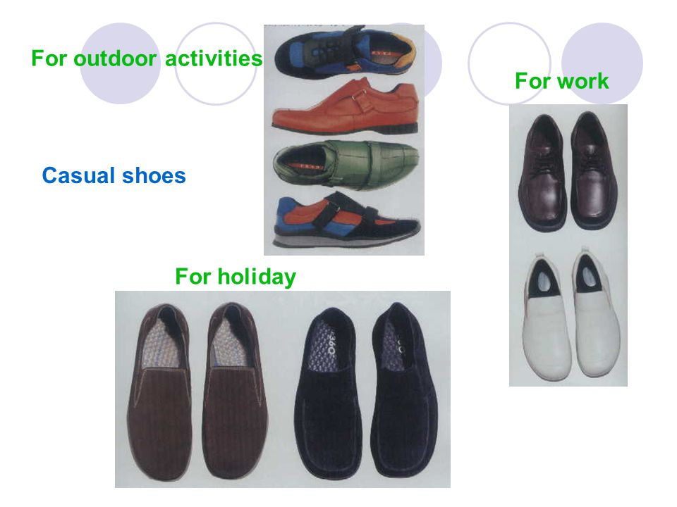 Casual shoes For holiday For work For outdoor activities