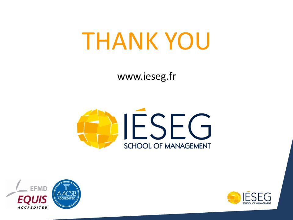 THANK YOU www.ieseg.fr