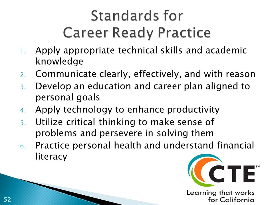1. Apply appropriate technical skills and academic knowledge 2. Communicate clearly, effectively, and with reason 3. Develop an education and career p