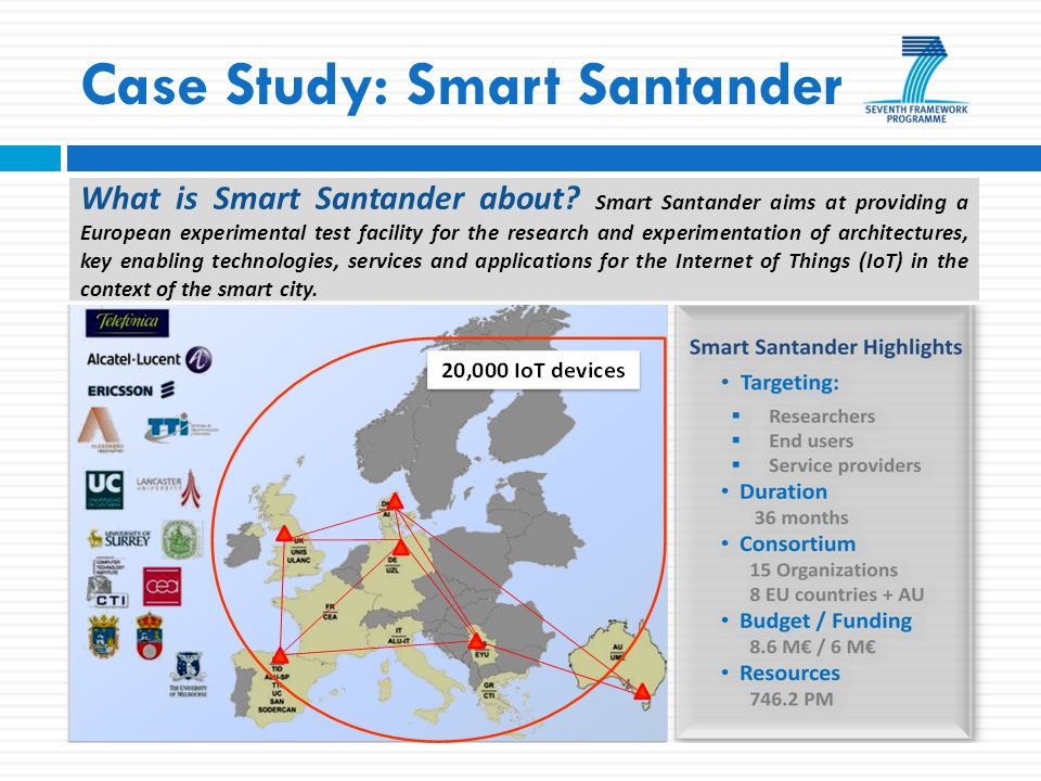 Case Study: Smart Santander What is Smart Santander about.