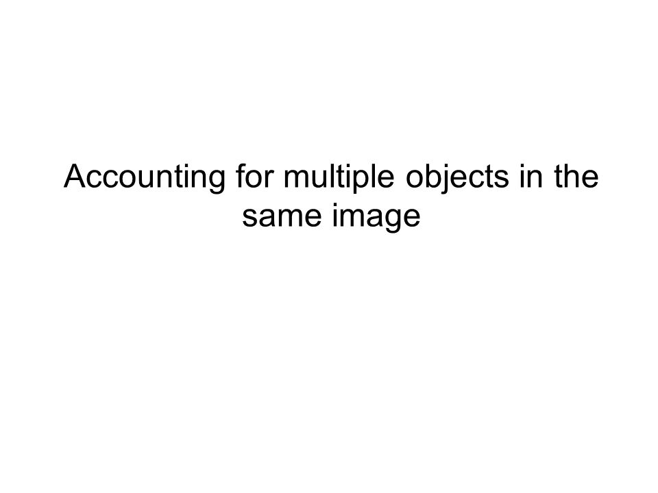Accounting for multiple objects in the same image