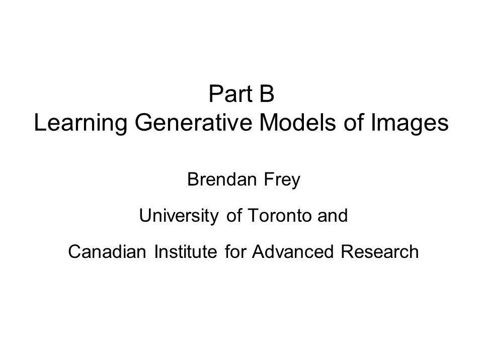 A generative model for layered vision (Jojic and Frey 2001, Frey, Kannan and Jojic, 2003)