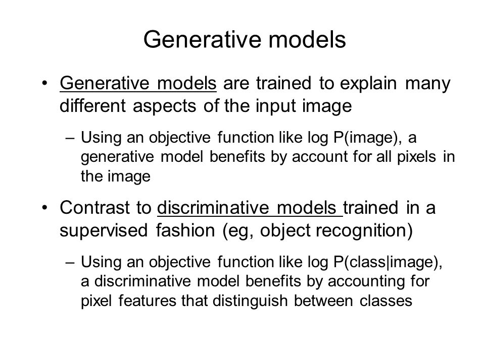 Accounting for local image features using epitomes A good way to model local image features is to factorize them (cf Brunos talk) A simpler method is to cluster them (Freeman and Pasztor, 1999) A generative model based on clustered image patches needs a way to account for how image patches are coordinated