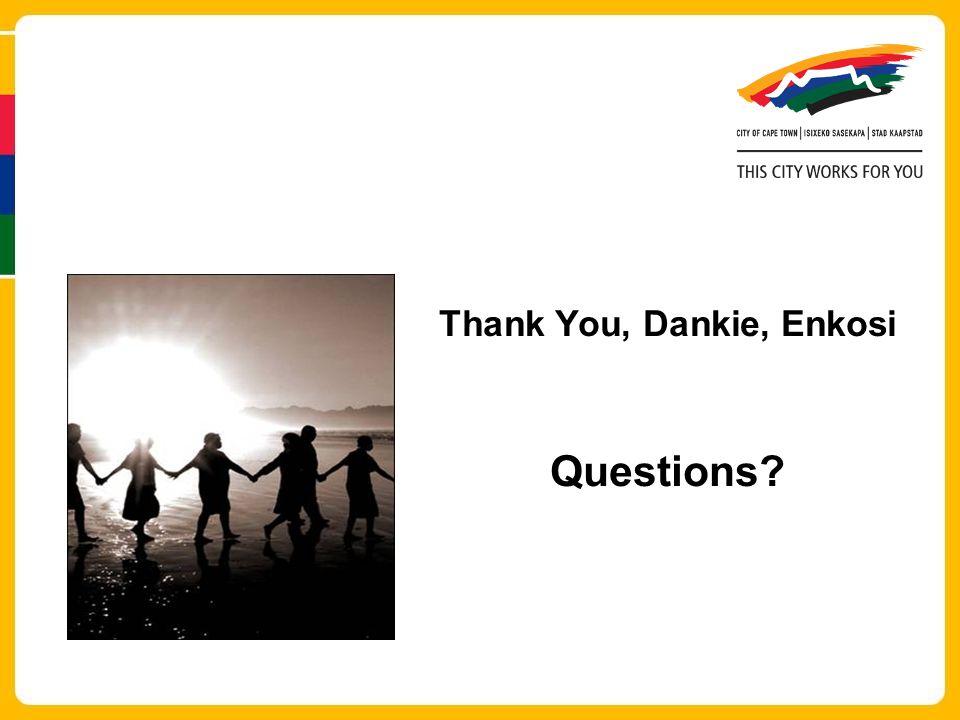 Thank You, Dankie, Enkosi Questions?