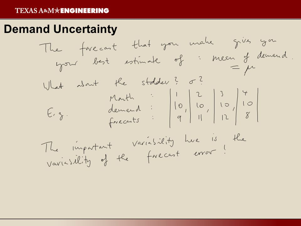 Demand Uncertainty