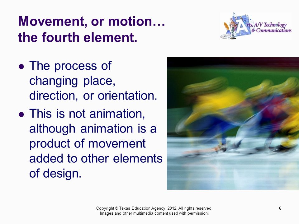 Proportion is the sixth principle.A 2D or 3D element defined by other elements of design.
