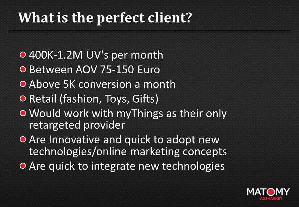 What is the perfect client.