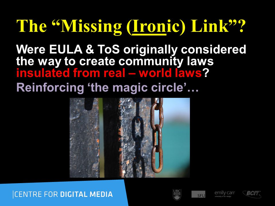The Missing (Ironic) Link.
