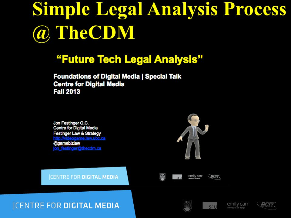 Simple Legal Analysis Process @ TheCDM