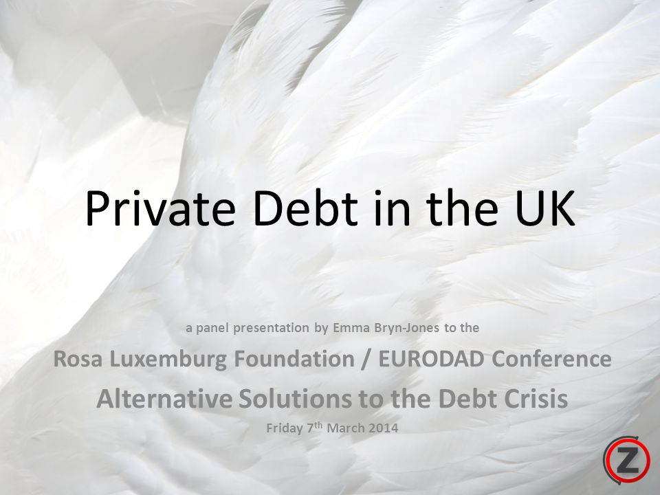 Private Debt in the UK a panel presentation by Emma Bryn-Jones to the Rosa Luxemburg Foundation / EURODAD Conference Alternative Solutions to the Debt Crisis Friday 7 th March 2014