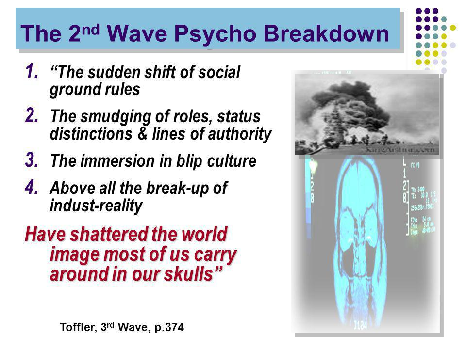 The 2 nd Wave Psycho Breakdown 1. The sudden shift of social ground rules 2.