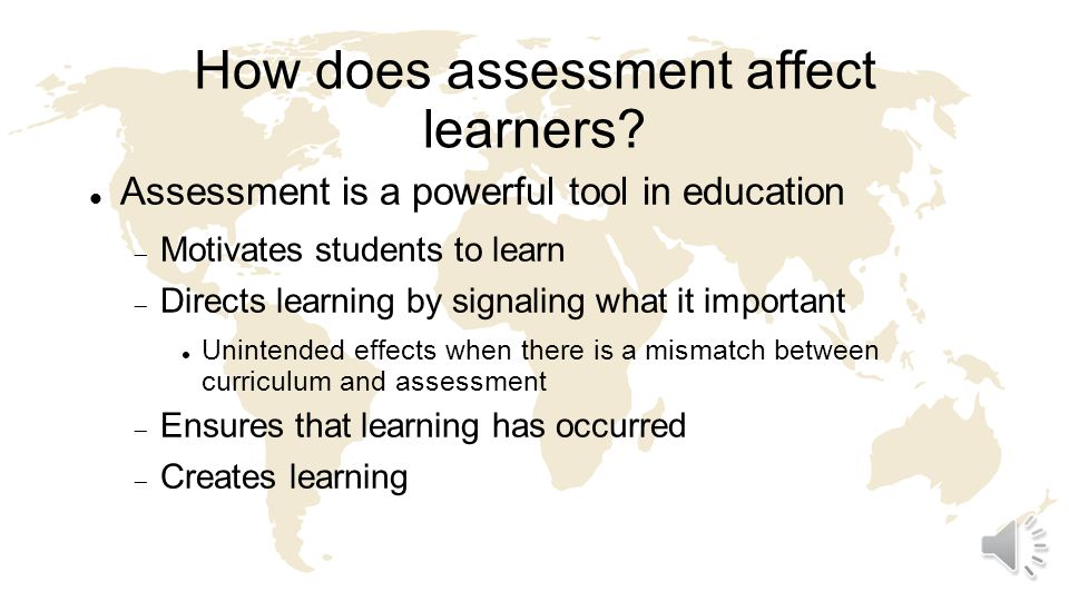 What is a test or assessment.