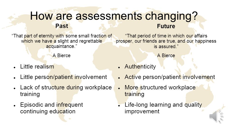 How are assessments changing.