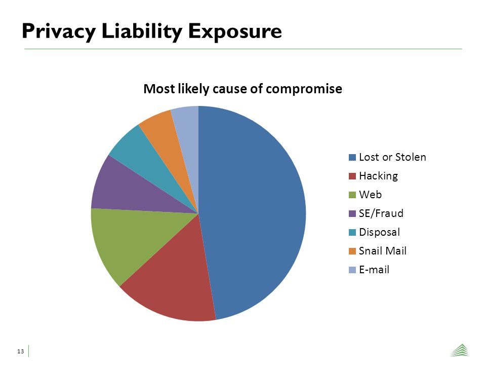Privacy Liability Exposure 13