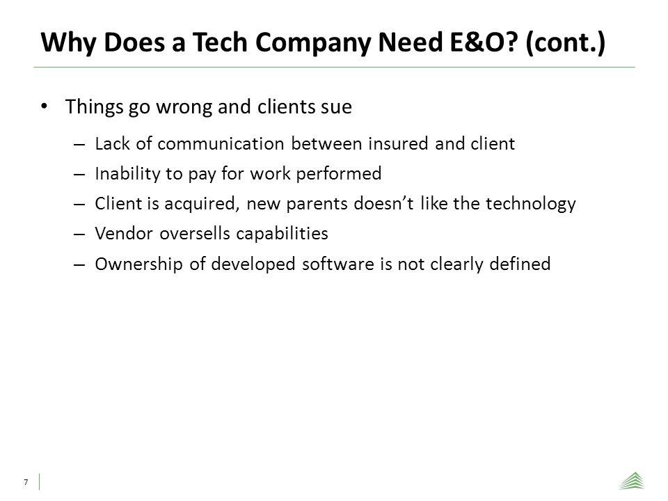 Why A Tech Company Needs E&O: 8