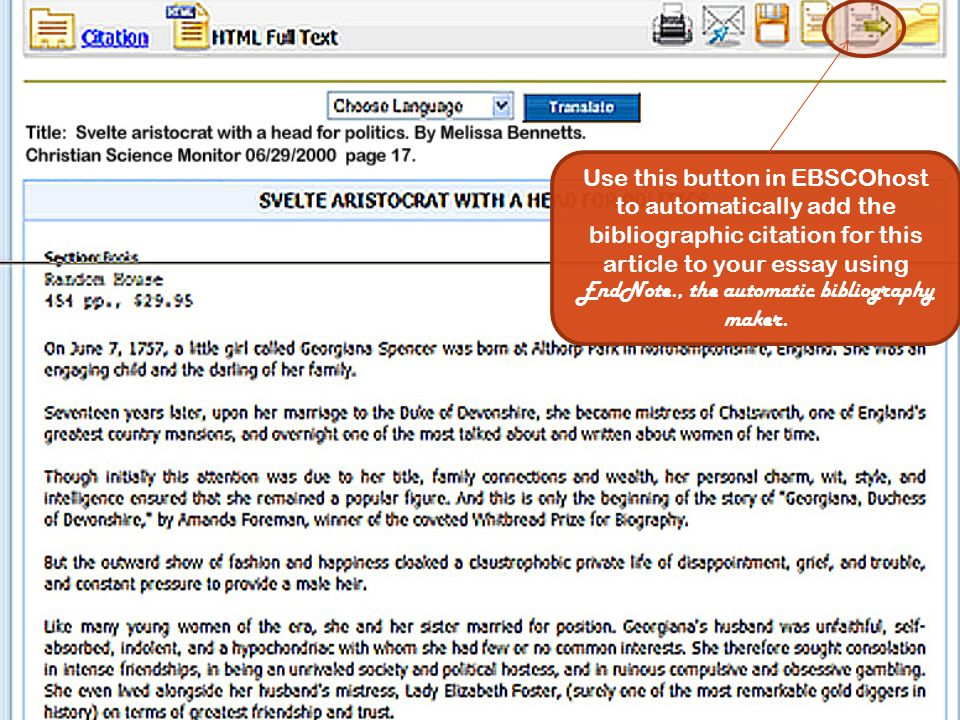 EBSCOhost Exports the Bibliographic Citation to your EndNote Library EBSCOhost exports your Bibliographic Citation to your Endnote library…….