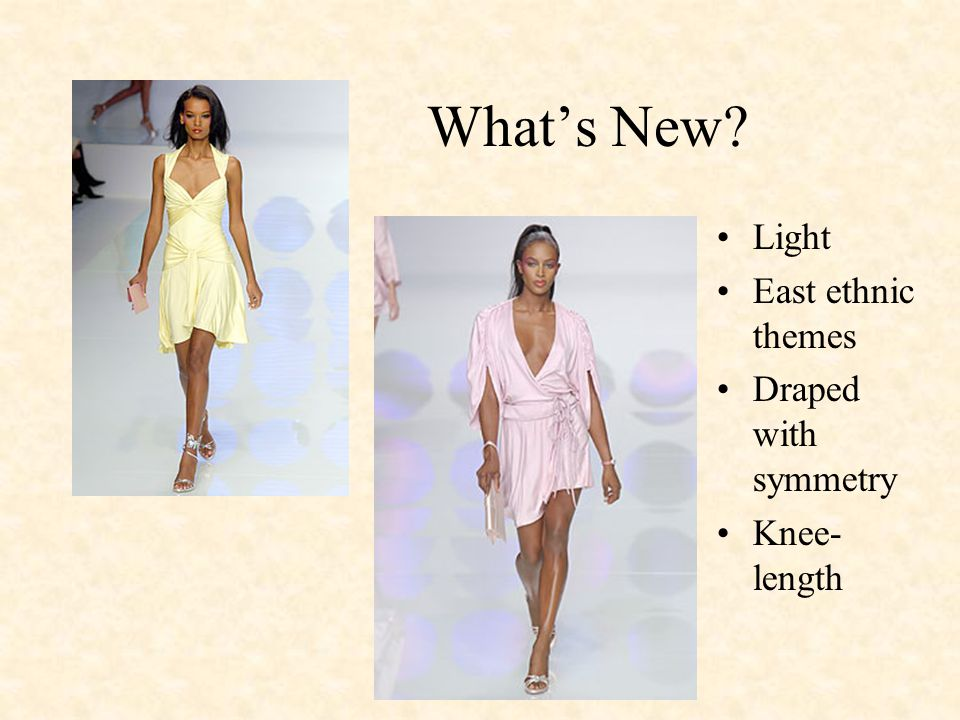 Whats New Light East ethnic themes Draped with symmetry Knee- length
