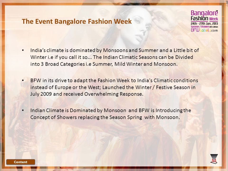 BFW goes Summer Showers This January 2013 This commitment to Monsoon will provide increased exposure for Indian designers to buyers, media and the fashion industry both in India and abroad.